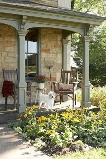 Adorable Green Porch Design Ideas For You 42