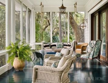 Adorable Green Porch Design Ideas For You 45