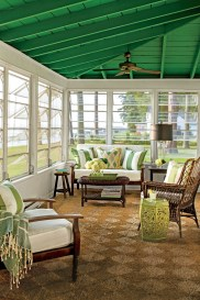 Adorable Green Porch Design Ideas For You 48