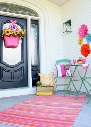 Best Colorful Porch Design Ideas That Looks Cool 14
