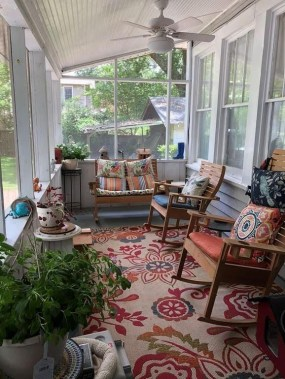 Best Colorful Porch Design Ideas That Looks Cool 35