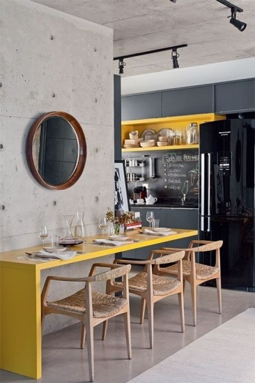 Best Yellow Accent Kitchens Ideas For You 01
