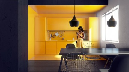 Best Yellow Accent Kitchens Ideas For You 07
