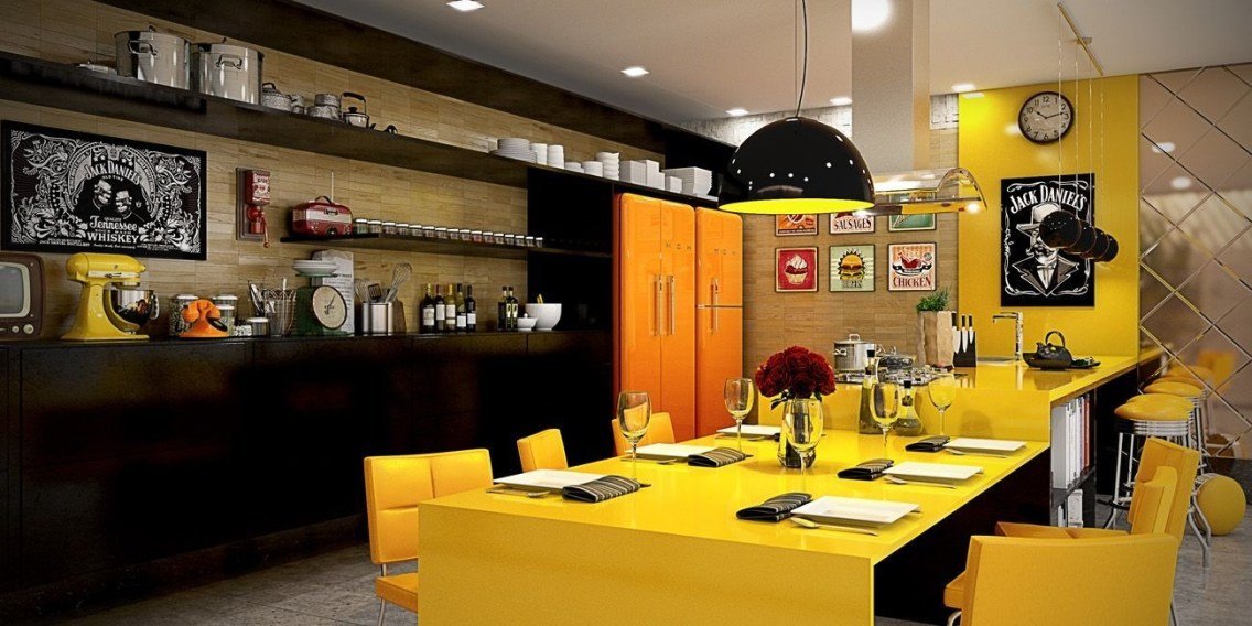 Best Yellow Accent Kitchens Ideas For You 25