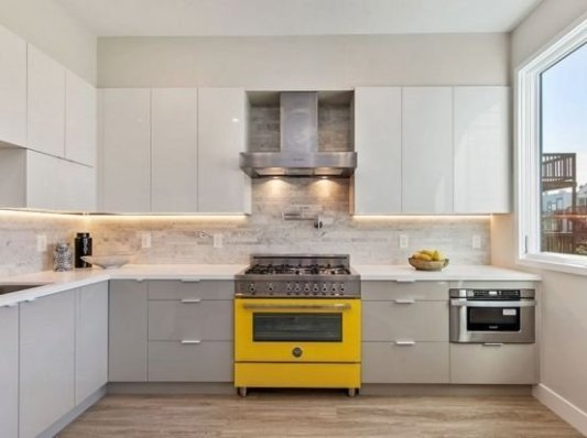 Best Yellow Accent Kitchens Ideas For You 39