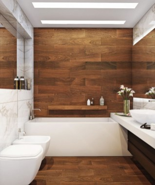 Excellent Wooden Bathroom Designs Ideas To Try 40