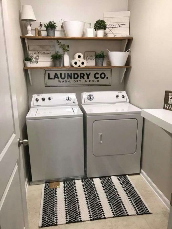 Trendy Small Laundry Room Design Ideas To Try Asap 38