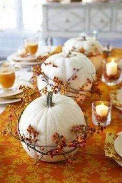 Admiring White And Orange Pumpkin Centerpieces Ideas For Halloween 42