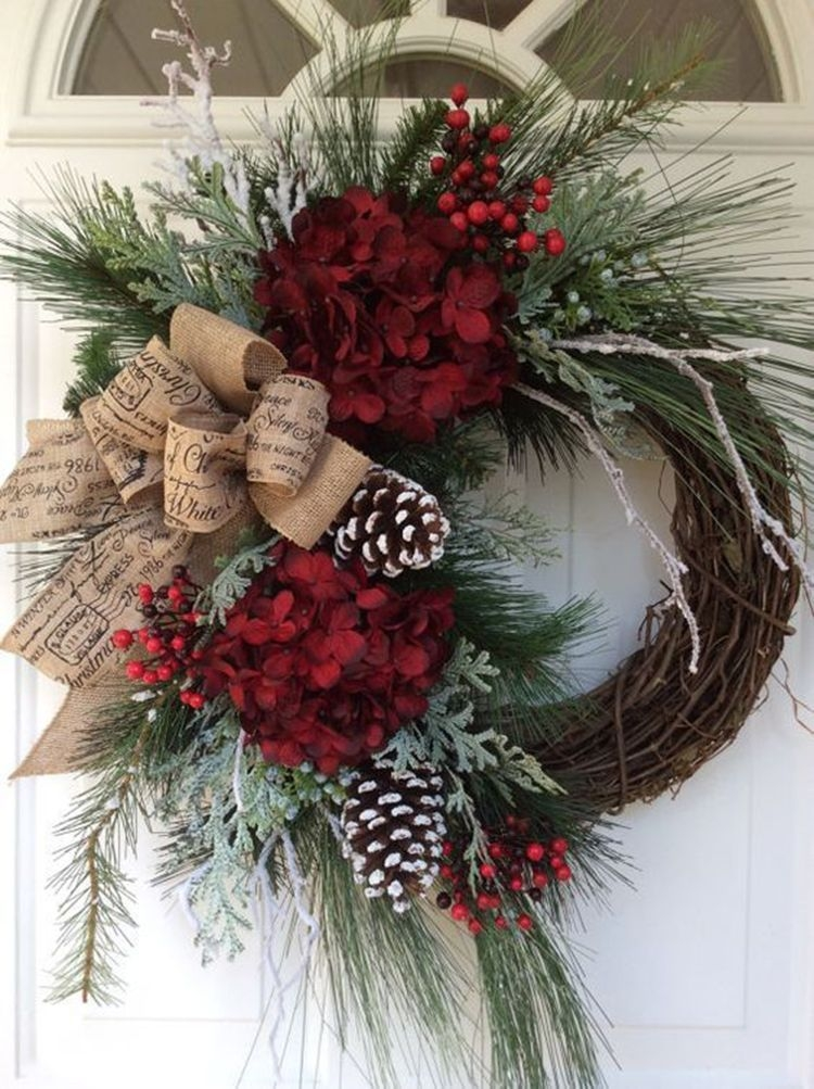 Captivating Diy Front Door Design Ideas For Special Christmas To Try 07