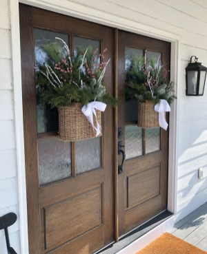 Captivating Diy Front Door Design Ideas For Special Christmas To Try 45
