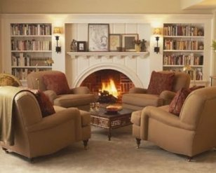 Delicate Living Room Design Ideas With Fireplace To Keep You Warm This Winter 04