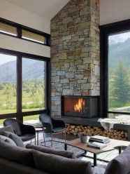 Delicate Living Room Design Ideas With Fireplace To Keep You Warm This Winter 08