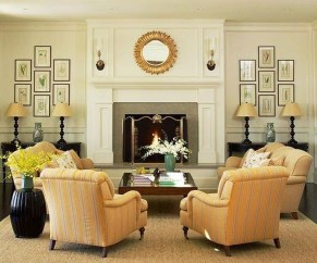 Delicate Living Room Design Ideas With Fireplace To Keep You Warm This Winter 23