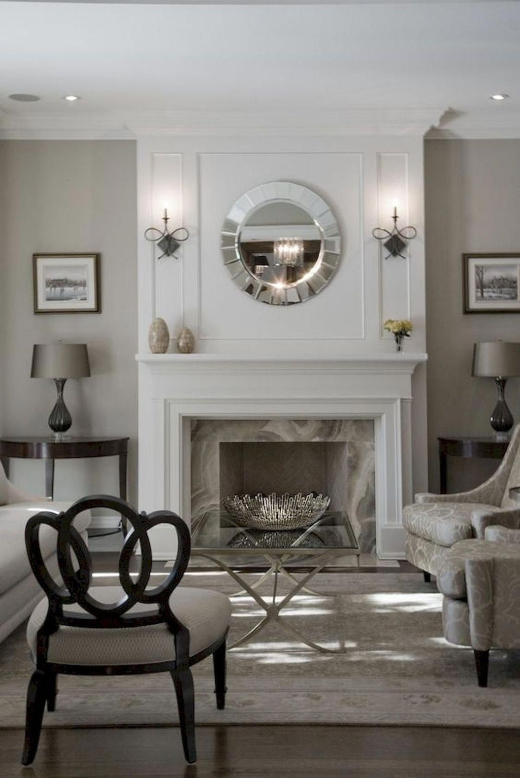 Delicate Living Room Design Ideas With Fireplace To Keep You Warm This Winter 47