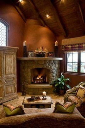 Delicate Living Room Design Ideas With Fireplace To Keep You Warm This Winter 48