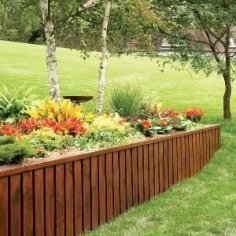 Extraordinary Front Yard Fence Design Ideas With Wood Material For Small House 26