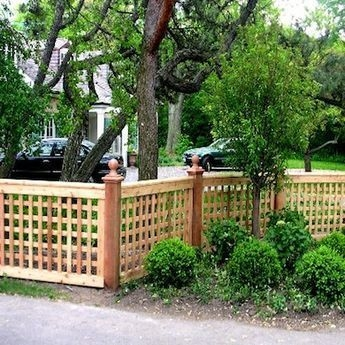 Extraordinary Front Yard Fence Design Ideas With Wood Material For Small House 50