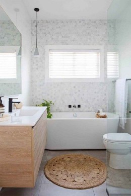 Unrdinary Small Bathroom Design Remodel Ideas With Awesome Tiles To Try 34