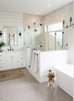 Unusual Remodel Design Ideas To Be Modern Farmhouse Bathroom 11