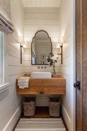 Unusual Remodel Design Ideas To Be Modern Farmhouse Bathroom 18