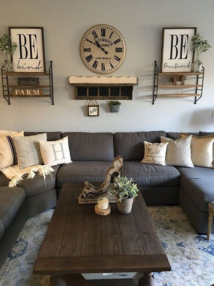 Comfy Farmhouse Living Room Decor Ideas That You Need To See 06