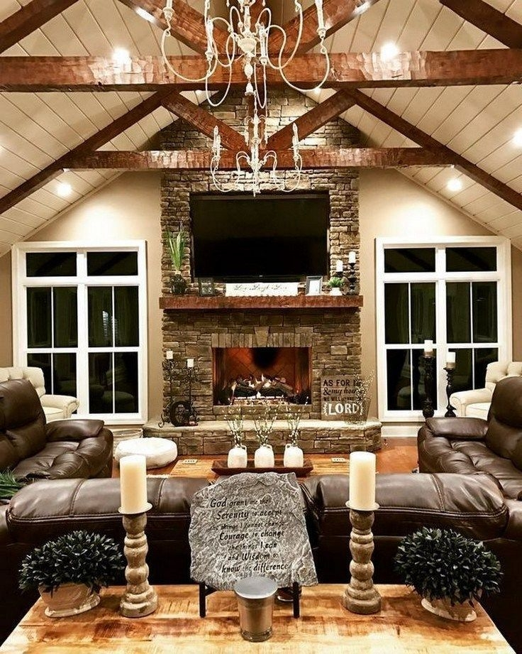 Comfy Farmhouse Living Room Decor Ideas That You Need To See 09