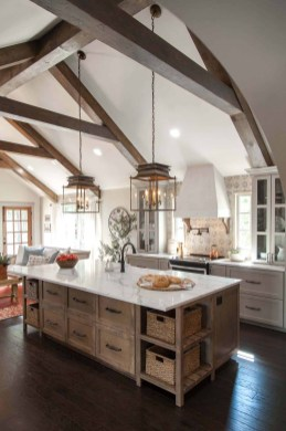 Crative Farmhouse Kitchen Design Ideas For Fun Cooking To Try 24