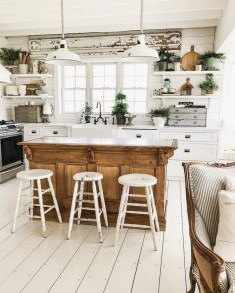 Crative Farmhouse Kitchen Design Ideas For Fun Cooking To Try 40