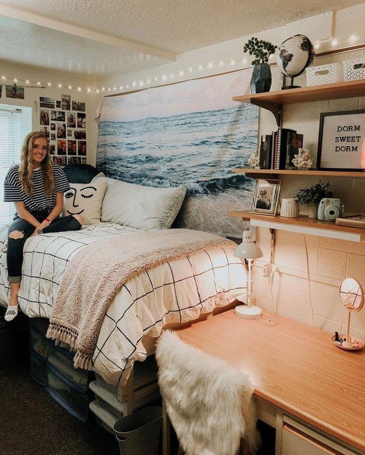 Elegant College Dorm Room Design Ideas That Suitable For You 21