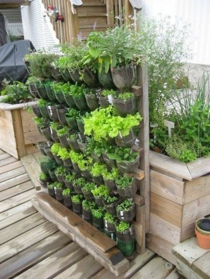 Rustic Small Backyard Design Ideas With Vertical Garden To Try Asap 26