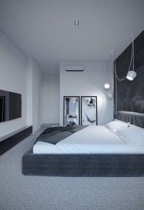 Best Bedroom Design Ideas With Black And White Color Schemes 22