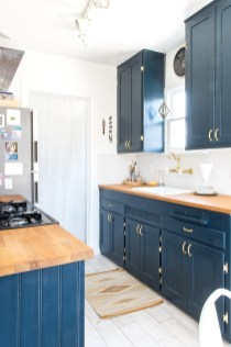 Classy Blue Kitchen Cabinets Design Ideas For Kitchen Looks More Incredible 03