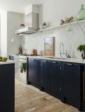 Classy Blue Kitchen Cabinets Design Ideas For Kitchen Looks More Incredible 09