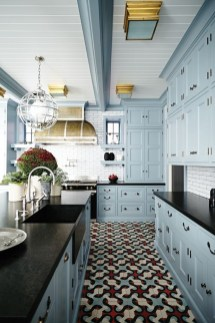 Classy Blue Kitchen Cabinets Design Ideas For Kitchen Looks More Incredible 10