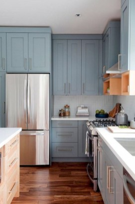 Classy Blue Kitchen Cabinets Design Ideas For Kitchen Looks More Incredible 15