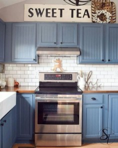 Classy Blue Kitchen Cabinets Design Ideas For Kitchen Looks More Incredible 30