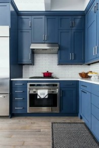 Classy Blue Kitchen Cabinets Design Ideas For Kitchen Looks More Incredible 31