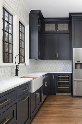Classy Blue Kitchen Cabinets Design Ideas For Kitchen Looks More Incredible 33