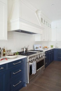 Classy Blue Kitchen Cabinets Design Ideas For Kitchen Looks More Incredible 39