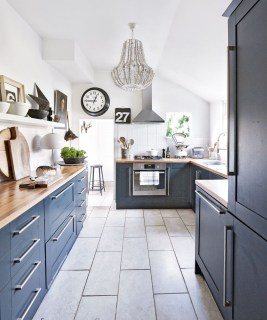 Classy Blue Kitchen Cabinets Design Ideas For Kitchen Looks More Incredible 40