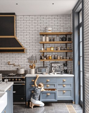 Classy Blue Kitchen Cabinets Design Ideas For Kitchen Looks More Incredible 44