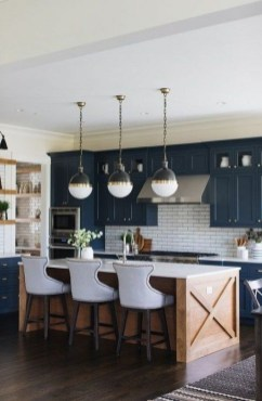 Classy Blue Kitchen Cabinets Design Ideas For Kitchen Looks More Incredible 45