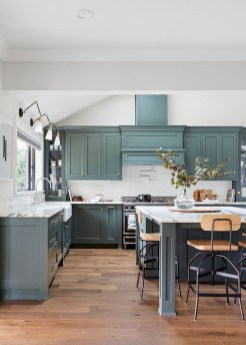 Classy Blue Kitchen Cabinets Design Ideas For Kitchen Looks More Incredible 46