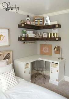 Comfy Corner Floating Shelves Design Ideas To Beautify Your Room Corner 22