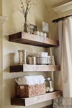 Comfy Corner Floating Shelves Design Ideas To Beautify Your Room Corner 27