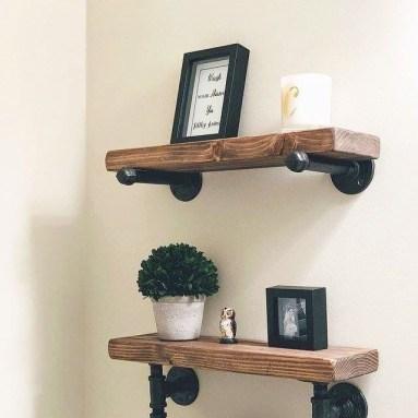 Comfy Corner Floating Shelves Design Ideas To Beautify Your Room Corner 33
