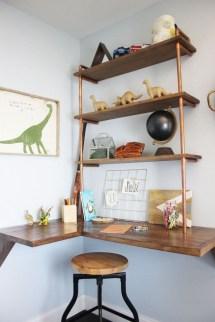 Comfy Corner Floating Shelves Design Ideas To Beautify Your Room Corner 39