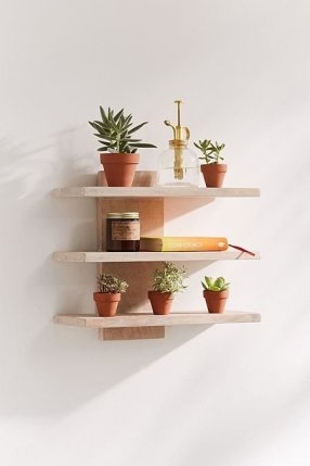 Comfy Corner Floating Shelves Design Ideas To Beautify Your Room Corner 44