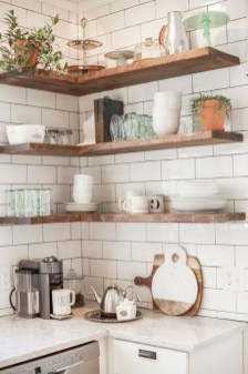 Comfy Corner Floating Shelves Design Ideas To Beautify Your Room Corner 47
