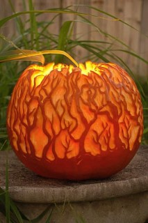 Cozy Pumpkin Carving Design Ideas You Can Do Yourself 20